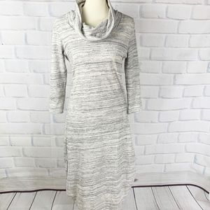 Saturday Sunday Anthro Sweater Cowl Neck Dress